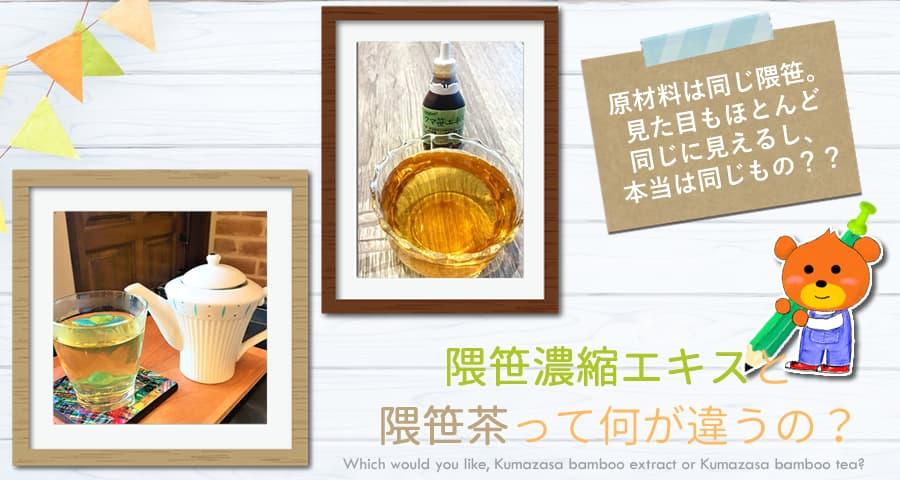 クマ笹エキスと熊笹茶の違いについて解説!効能は?