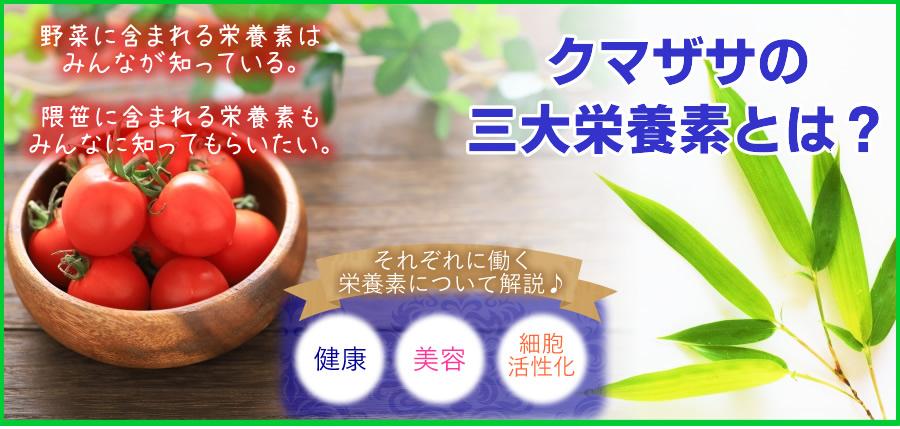 隈笹の三大栄養素