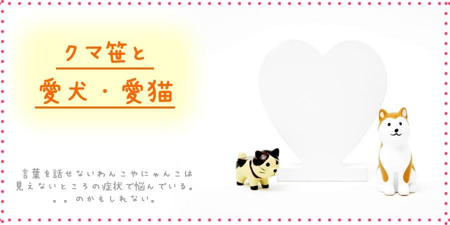 愛犬・愛猫と隈笹